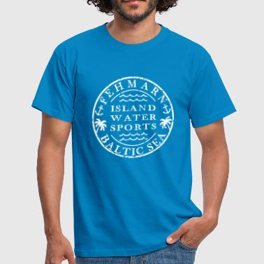 Fehmarn Water Sports logo - Men's T-Shirt