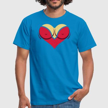 Heart-shaped Woman's Breasts With Deep Cleavage - Men's T-Shirt