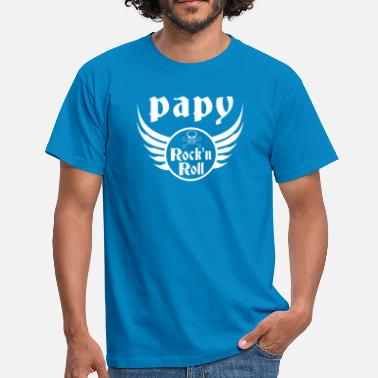 Grand-père Papy Rock and roll - T-shirt Homme