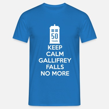 Matt Smith Keep Calm Gallifrey Falls No More - Men's T-Shirt