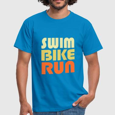 Swim Bike Run - Vektor Edition - Männer T-Shirt