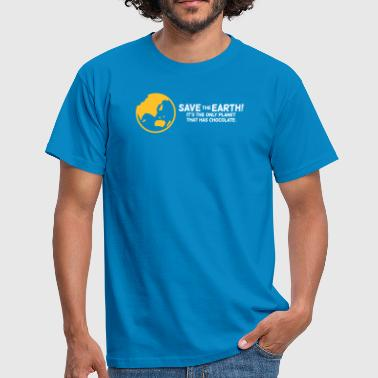 Save The Earth!The Only Planet That Has Chocolate - Men's T-Shirt