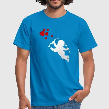 Cupid with heart - Men's T-Shirt