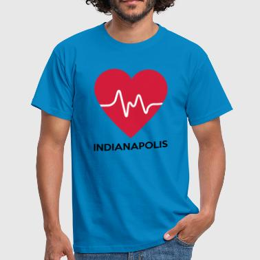 Indianapolis Heart Indianapolis - Mannen T-shirt