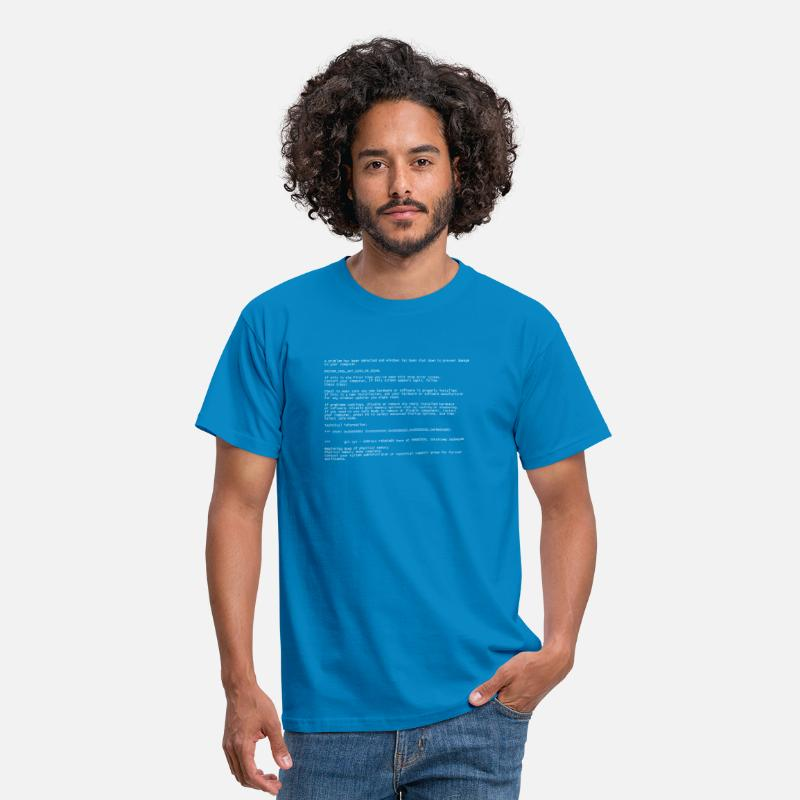 Computer T-Shirts - Blue Screen - Men's T-Shirt royal blue