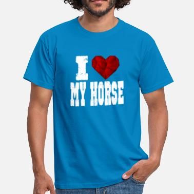 Rubin i love my horse horse pride heart love love - Men's T-Shirt