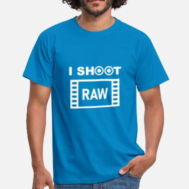 Clic Je tire RAW (texte blanc) - T-shirt Homme