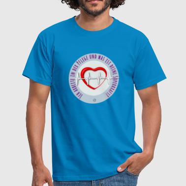 a heart for nursing care for the elderly - Men's T-Shirt