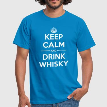 Drinks Keep calm Whisky - Men's T-Shirt