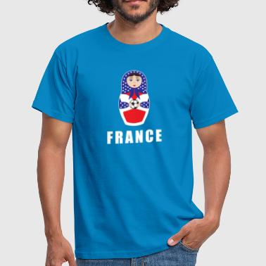 Babuschka France football matryoshka jersey Babushka - Men's T-Shirt
