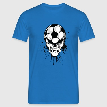 soccer skull kicker ball football pirat - Men's T-Shirt