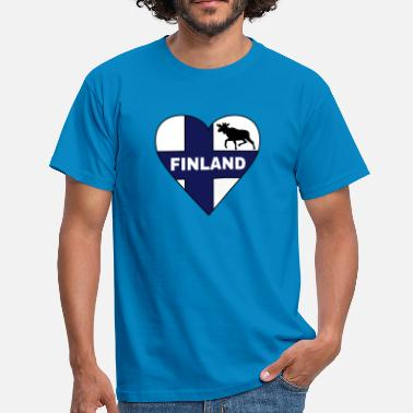 Finland Finland Flag Heart - Men's T-Shirt