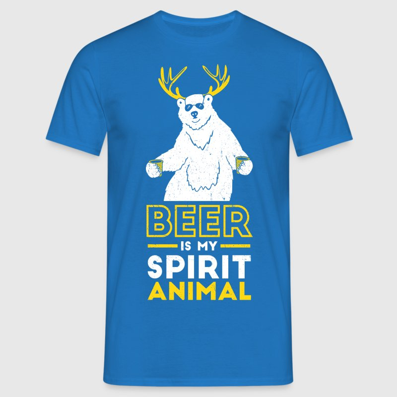 Beer is my spirit Animal - Men's T-Shirt
