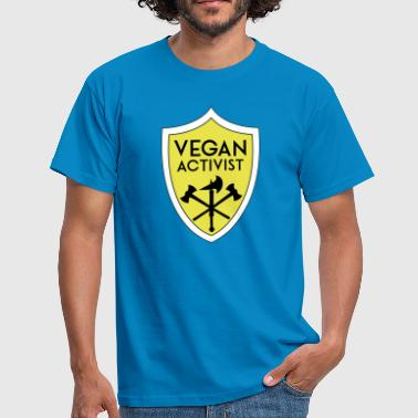 VEGAN ACTIVIST SHIELD - Männer T-Shirt