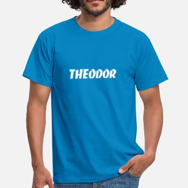Theodor Logo White Theodor - T-shirt Homme