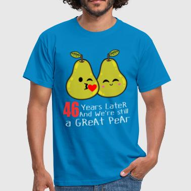 Pear 46th Wedding Anniversary Funny Pear Couple Gift - Men's T-Shirt