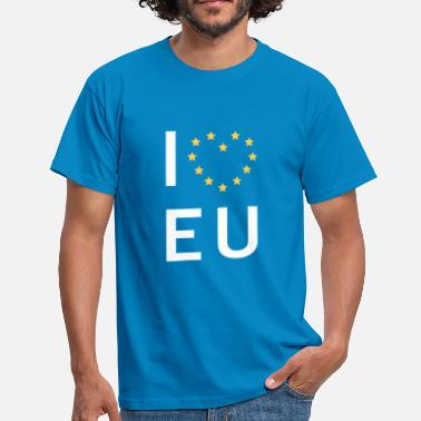 Europe I Love Eu I love EU - Men's T-Shirt
