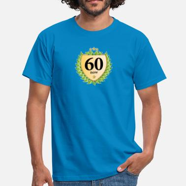 Jubilee sixty now sixty laurel wreath 60th birthday star - Men's T-Shirt