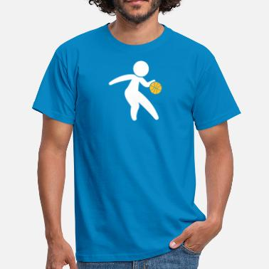 Dribbling Een Basketball Player Dribbling The Ball - Mannen T-shirt