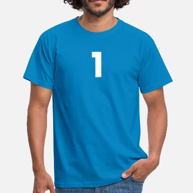 One 1 Number 1, number 1, 1, one, number one, one - Men's T-Shirt