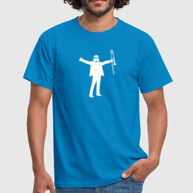 trombone trooper  - Men's T-Shirt