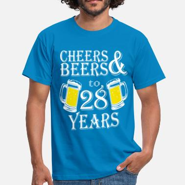 28 Years Cheers And Beers To 28 Years - Men's T-Shirt