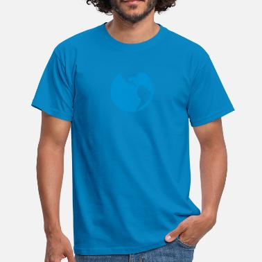 Blue Earth Globe planet earth blue - Men's T-Shirt