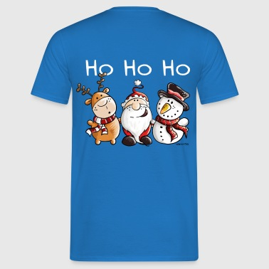 Santa Claus, Reindeer and Snowman - Gift - Men's T-Shirt