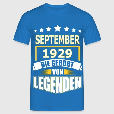 SEPTEMBER 1929 - Männer T-Shirt