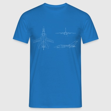 tornado jet fighter white - Men's T-Shirt