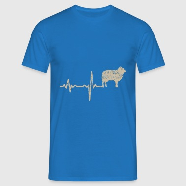 Gift heartbeat sheep - Men's T-Shirt