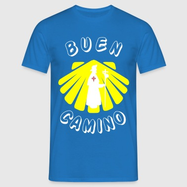 Way of St. James Buen Camino Pilgrim Scallop Pilgrims - Men's T-Shirt