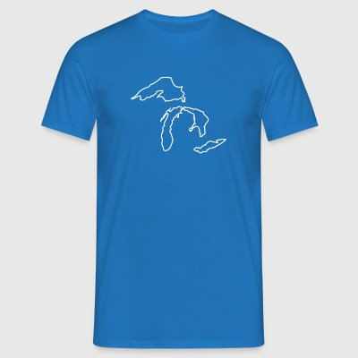 Michigan Grands Lacs Carte - T-shirt Homme