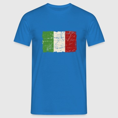 Italy Flag - Vintage Look - Men's T-Shirt
