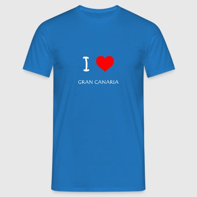 I Love Gran Canaria - T-skjorte for menn