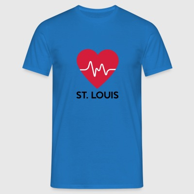 Heart St Louis - T-shirt herr