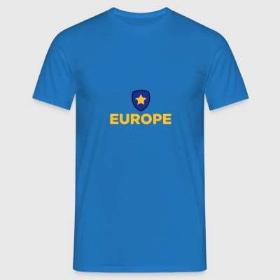 Unionens flag for Europa - Herre-T-shirt