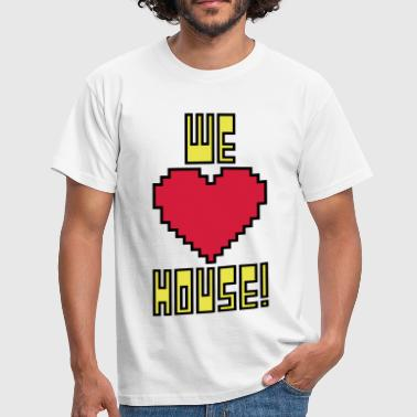 welovehousevector1 - Men's T-Shirt