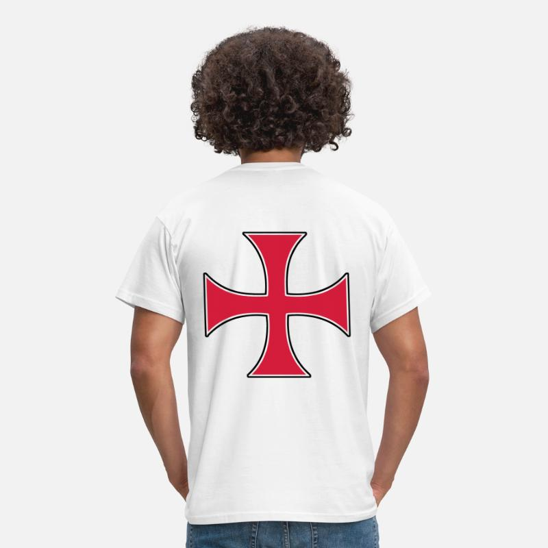 Christian T-Shirts - templar templiers croix cross - Men's T-Shirt white