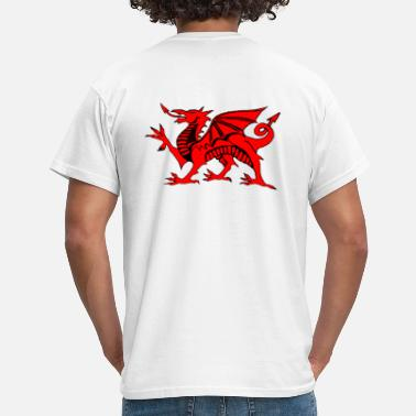 Football Design Wales Uk welsh red dragon graphic uk - Men's T-Shirt