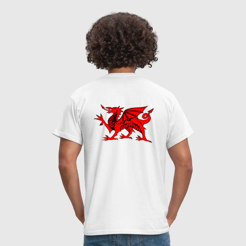 welsh red dragon graphic uk - Men's T-Shirt
