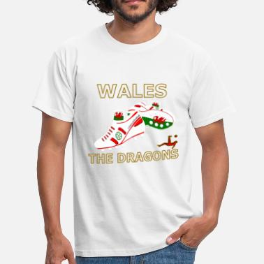 Football Boots wales football boots white red gold - Men's T-Shirt