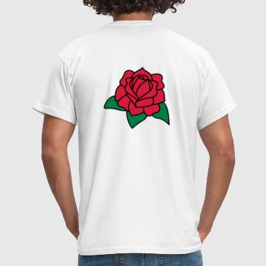 Red Rose 3c - Men's T-Shirt