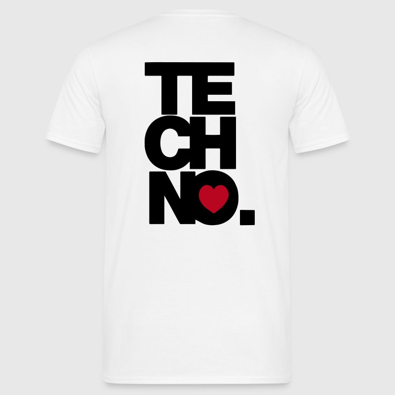 I love TECHNO - Männer T-Shirt