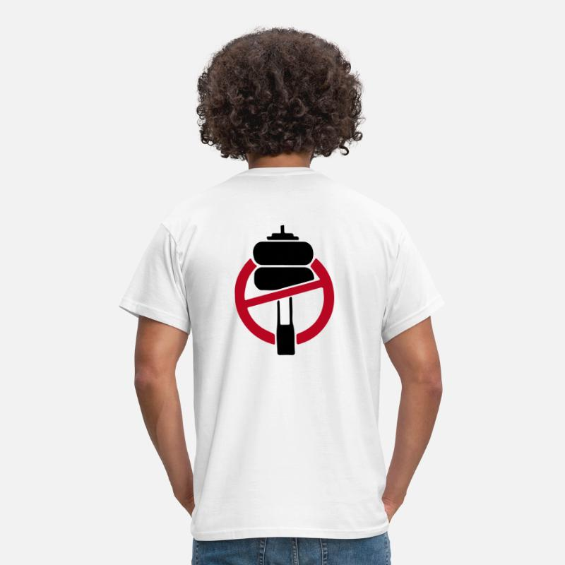 Stop T-Shirts - NO FUCKING AIRRIDE - Men's T-Shirt white