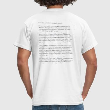 Inspirational Life Quote Tee - Men's T-Shirt