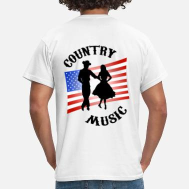 Line Dance Blanc country music T-shirts - T-shirt Homme