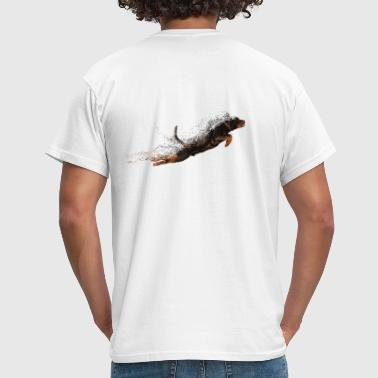 Flying Rottweiler - Mannen T-shirt