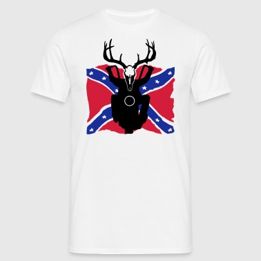 rockabilly rebel flag biker - Männer T-Shirt
