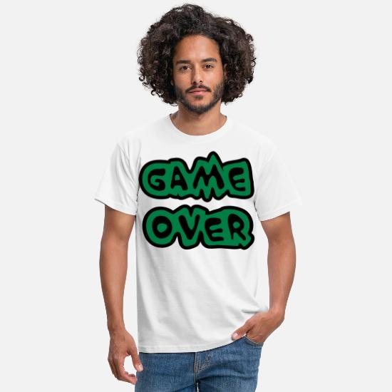 Computer T-Shirts - Game Over - Men's T-Shirt white